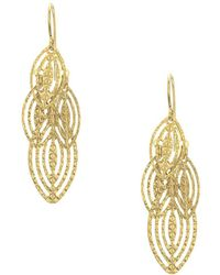 Saks Fifth Avenue - 14k Yellow Gold Tiered Leaf Earrings - Lyst