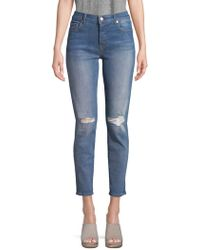 7 For All Mankind - Josefina Busted-knee Jeans - Lyst