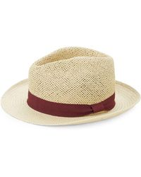 Saks Fifth Avenue - Contrast Patterned Fedora Hat - Lyst