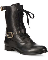 Alexander Wang - Leather Combat Boots - Lyst