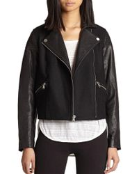Marc By Marc Jacobs - Karlie Leather & Wool Jacket - Lyst