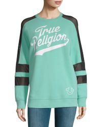 True Religion - Graphic Long-sleeve Pullover - Lyst