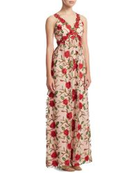 Alice + Olivia - Beck Embroidered Gown - Lyst
