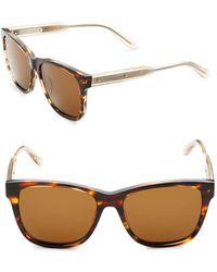 Bottega Veneta - 55mm Tortoise Square Sunglasses - Lyst