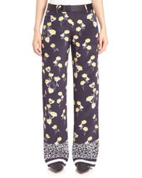 Mother Of Pearl - Ruthie Silk Wide-leg Pants - Lyst
