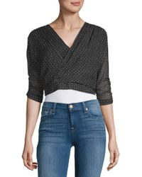 Lucca Couture - Dotted Crop Top - Lyst