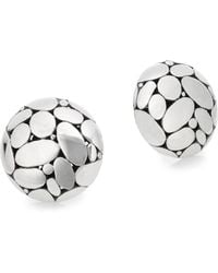 John Hardy - Kali Sterling Silver Button Earrings - Lyst