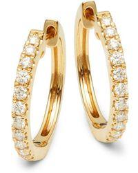 Effy - 14k Yellow Gold & Diamond Earrings - Lyst