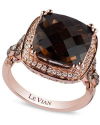 Le Vian - Chocolatier Diamond, Chocolate Quartz And 14k Strawberry Gold Cocktail Ring - Lyst