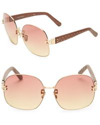 b7e99e3242a8 Lyst - Linda Farrow 24k Rose Gold Updated Clubmaster Frame in Metallic