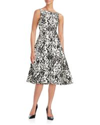 Adrianna Papell - Damask Fit-and-flare Dress - Lyst