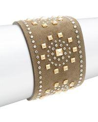 RED Valentino - Leather Studded Bracelet - Lyst