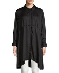French Connection - Eso Sunny Hi-lo Button-down Shirtdress - Lyst