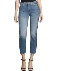 7 For All Mankind - Roxanne Faded Ankle Jeans - Lyst