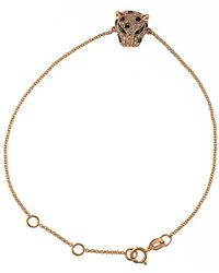 Effy - Signature 14kt Rose Gold Diamond And Tsavorite Panther Bracelet - Lyst