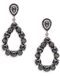 Bavna - Faceted Black Spinel And Sterling Silver Drop Earrings - Lyst