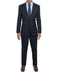 English Laundry - Men's Slim-fit Plaid Soft Wool 2-piece Suit - Lyst