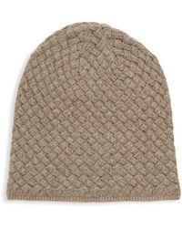Portolano - Basket Weave Cashmere, Silk & Wool Beanie - Lyst