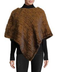 La Fiorentina - Asymmetrical Knitted Mink Fur Poncho - Lyst