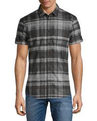Calvin Klein Jeans - Plaid Cotton Button-down Shirt - Lyst