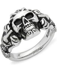 Effy - Skull Sterling Silver Ring - Lyst