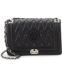 Valentino By Mario Valentino - Alice D Embellished Leather Shoulder Bag - Lyst