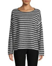 Eileen Fisher - Striped Sweatshirt - Lyst