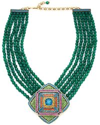 Heidi Daus - Multi-strand Crystal Beaded Pendant Necklace - Lyst