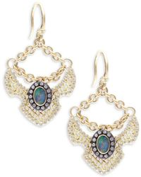 Armenta - Old World Boulder Opals, Diamonds, 18k Yellow Gold & Sterling Silver Earrings - Lyst