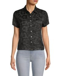 VEDA - Honolulu Floral Silk Button-down Shirt - Lyst