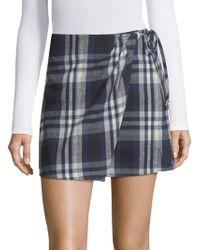 3x1 - Ferdie Wrap Plaid Cotton Skirt - Lyst