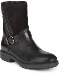 Aquatalia - Buckle Leather Boots - Lyst