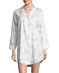 578b2f6a25 Saks Fifth Avenue - Collection Button Front Butterfly Sleepshirt - Lyst