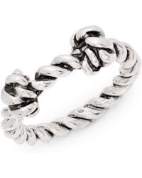 Aurelie Bidermann - Palazzo Sterling Silver Knot Ring - Lyst