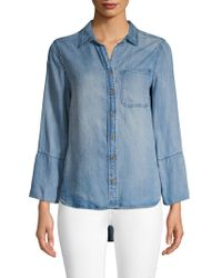 Saks Fifth Avenue - Faded Long-sleeve Top - Lyst