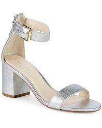 Cole Haan - Clarette Ii Metallic Ankle Strap Sandals - Lyst