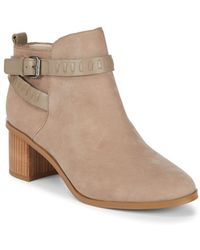 French Connection - Claudia Leather Booties - Lyst