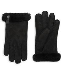 UGG - Sheepskin And Dyed Shearling Tenney Gloves - Lyst