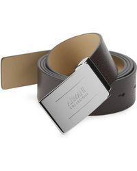 Armani - Plate Leather Belt - Lyst