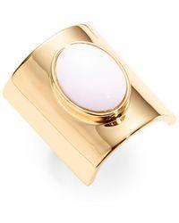 Trina Turk - White Oval Stone Ring - Lyst
