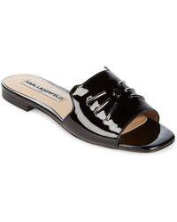 Karl Lagerfeld - Raven Patent Leather Whisker Slides - Lyst