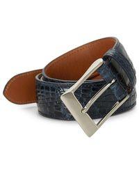 Saks Fifth Avenue - Crocodile Leather Belt - Lyst