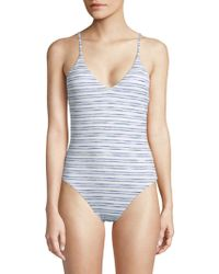 Dolce Vita - One-piece Striped Swimsuit - Lyst