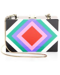 MILLY - Diamond Square Clutch - Lyst