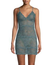Samantha Chang - All Lace Slip Dress - Lyst
