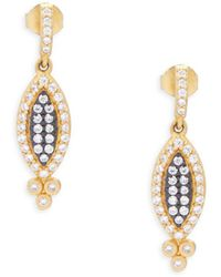 Freida Rothman - Crystal And Goldplated Harlequin Drop Earrings - Lyst