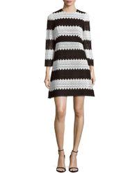 JILL Jill Stuart - Striped Lace Fit-and-flare Dress - Lyst