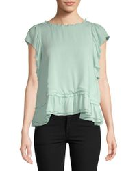 Catherine Malandrino - Hollis Ruffled Top - Lyst