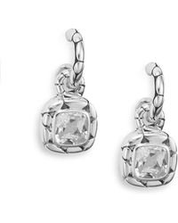 John Hardy - Kali White Topaz & Sterling Silver Drop Earrings - Lyst