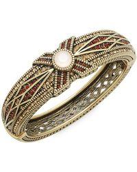 Heidi Daus - Tapered X Swarovski Crystal Bangle Bracelet - Lyst